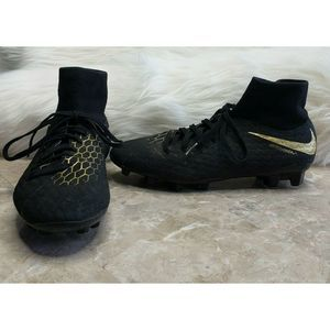 NIKE Phantom 3 Academy DF FG Black Gold Size 7